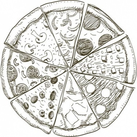 Піца з кальмарами і мідіями