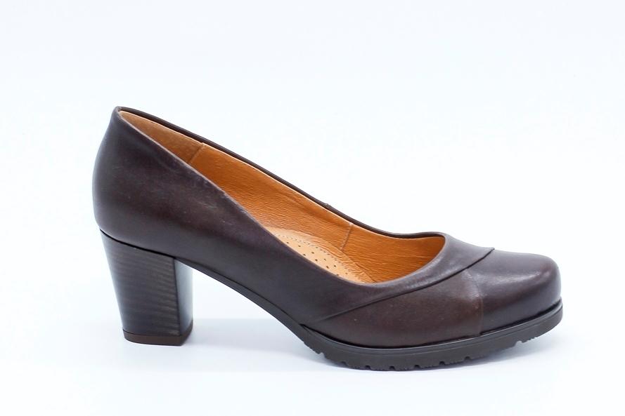 Коричневые туфли из натуральной кожи на утолщенной подошве