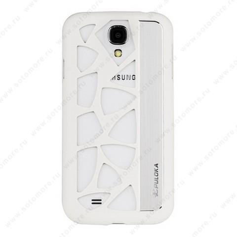 Накладка R PULOKA для Samsung Galaxy S4 i9500/ i9505 с отверстиями белая