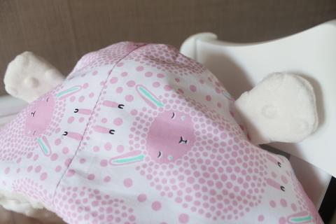 Летний конверт на выписку, Овечки, розовый