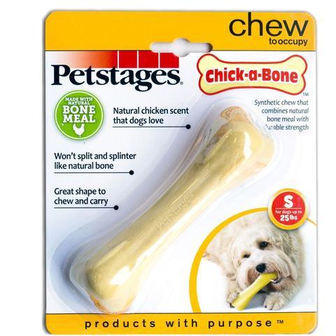 Petstages игрушка для собак Chick-A-Bone косточка с ароматом курицы 11 см малая