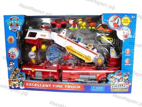 ОГРОМНАЯ Спасательная пожарная машина+3 щенка