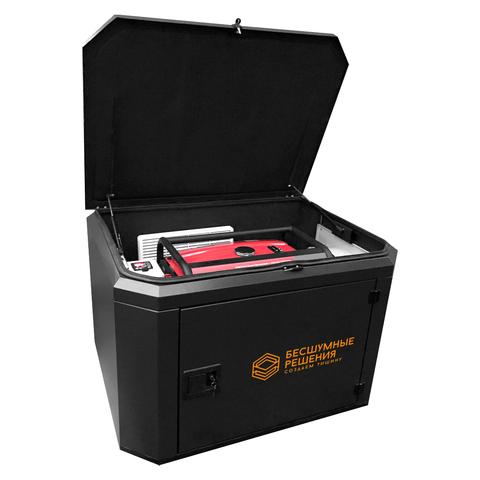 Готовый комплект аварийного питания на 8 кВт бензиновый генератор FUBAG BS 8500A ES в миниконтейнере SB1200 с АВР (блоком автоматического запуска) с монтажом