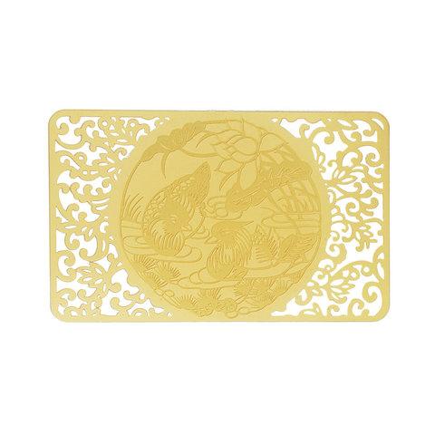 Золотая карточка уточки - мандаринки