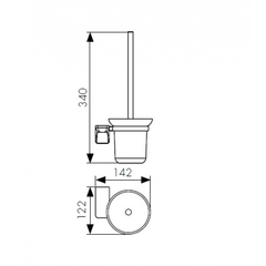 Держатель для туалетной щетки (ершик) настенный KAISER Vera BR KH-4706 схема