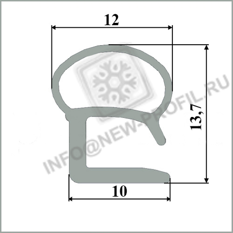 Уплотнитель для холодильника Стинол 022 м.к 280*480 мм 015(мк)