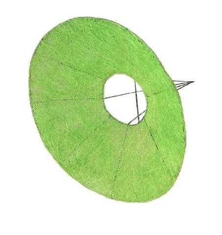 Каркас для букета гладкий (сизаль, диаметр: 30 см) Цвет: салатовый