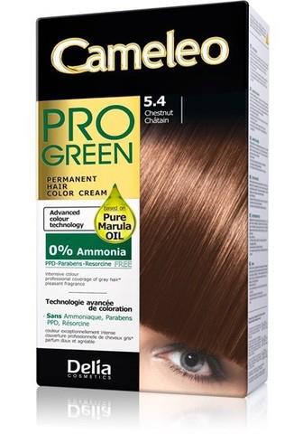 Delia Cosmetics Cameleo Pro Green Краска для волос тон 5.4 каштан