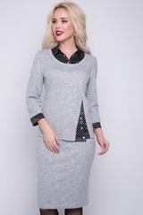 <p>Учимся одеватся тепло и стильно. Модный комплект из блузона и юбки на резинке актуален и в повседневной носке и на выход! (Длины блузон/юбка: 46-48=60/63 см; 50-52=61/64см)&nbsp;</p>