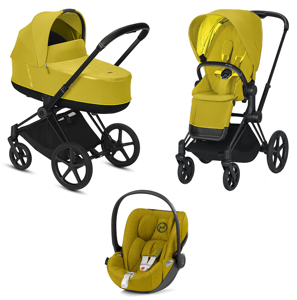 Cybex Priam 3 в 1 Детская коляска Cybex Priam III 3 в 1 Mustard Yellow Matt Black cybex-priam-iii-3-in-1-2020-mustard-yellow-matt-black.jpg