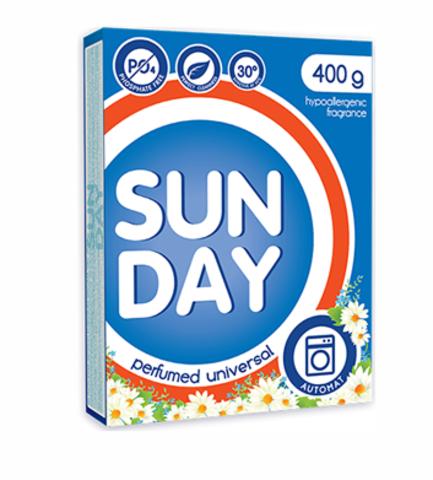 Сонца Sunday Стиральный порошок универсальный Perfumed Автомат 400 г