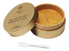 Патчи для глаз с муцином улитки и золотом Snail Аnd 24K Gold Premium Eye Patch 60шт