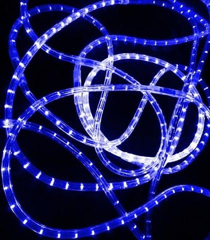 LED Дюралайт, двухжильный, круглый 13 мм, Синий, 36 LED/м, кратность резки 1 метр