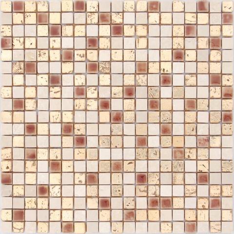 Мозаика каменная со стеклянными вставками Classica12 300х300