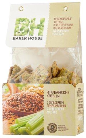 Хлебцы итальянские с сельдереем и семенами льна Baker House, 250г