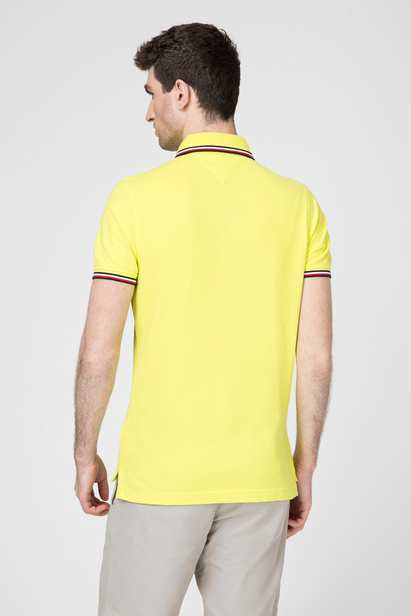 Мужское желтое поло TIPPED SLIM Tommy Hilfiger