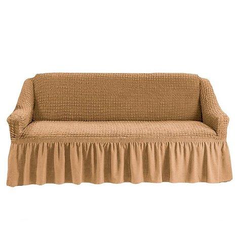 Чехол на 3-х местный диван песочный.
