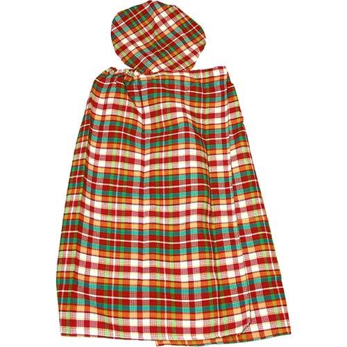 Набор женский вафельный Шотландка