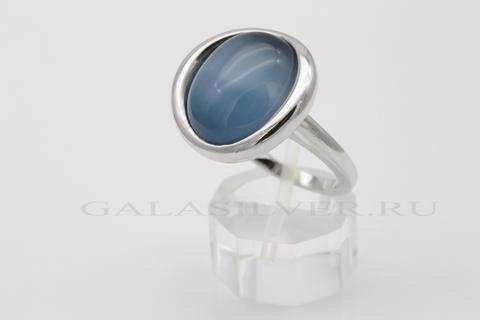 Кольцо с кошачьим глазом из серебра 925