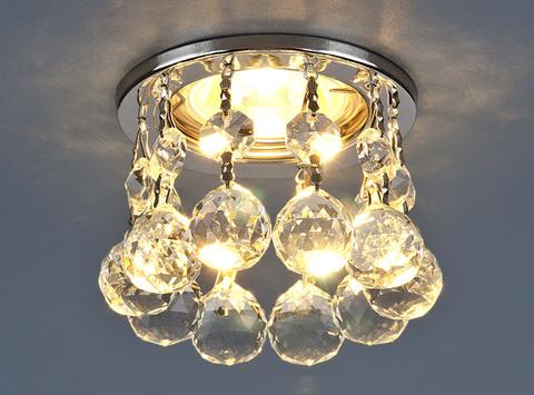Светильник точечный с хрусталем 2051 MR16 CH/CL хром/прозрачный