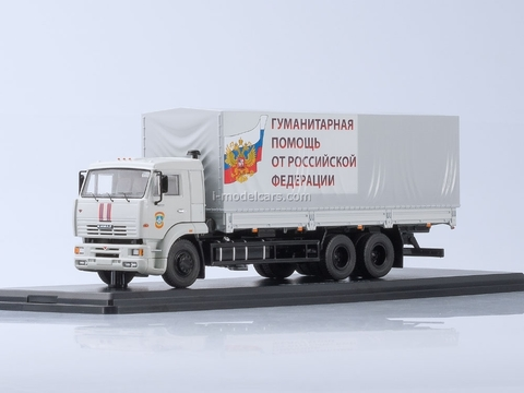KAMAZ-65117 MChS Humanitarian assistance white 1:43 Start Scale Models (SSM)