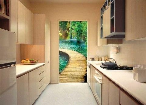 Дорожка к водопаду 97x204 см, люкс