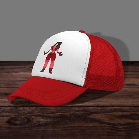 Красная кепка с сеткой