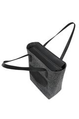 Войлочная сумка Gmakin Vella черная с черным кожзамом