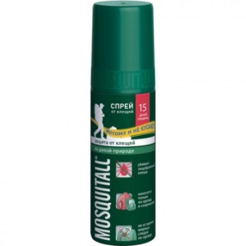 Средство от насекомых Mosquitall Защита от клещей спрей 100 мл