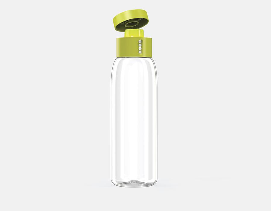 Бутылка многоразовая с контролем потребления воды Dot 600 мл зеленая Joseph Joseph 81049 | Купить в Москве, СПб и с доставкой по всей России | Интернет магазин www.Kitchen-Devices.ru
