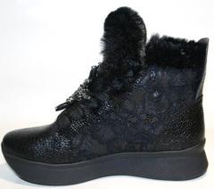 Зимние ботинки кроссовки женские