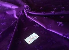 Велюр Корона фиолетовый