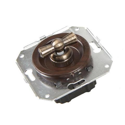 Выключатель двух позиционный для внутреннего монтажа проходной. Цвет Венге. Salvador. CL11WG