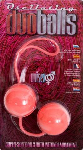 Вагинальные мягкие шарики MARBILIZED DUO BALLS PINK - Seven Creations 2K839MPK BCD GP