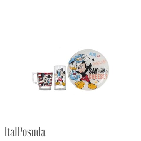 Набор детской посуды Luminarc Disney Party Mickey (Дисней Пати Микки), 3 предмета L4871