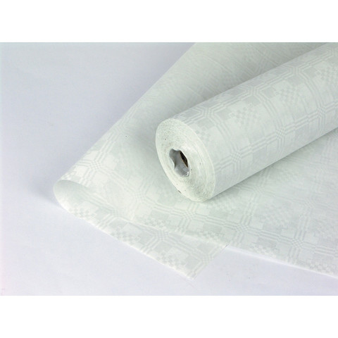 Скатерть одноразовая Tork 474633 бумажная ламинированная в рулоне 120 см x 15 м белая