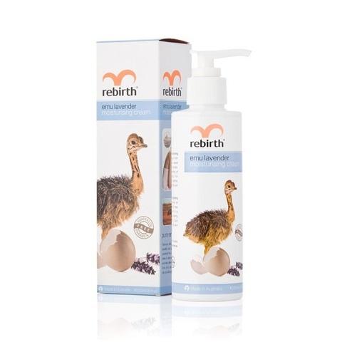 Крем для тела увлажняющий с маслом Эму и лавандой Rebirth Emu Lavender Moisturising Cream 200мл