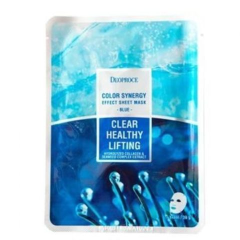 Тканевая маска с морским коллагеном и экстрактом водорослей Deoproce Color Synergy Effect Sheet Mask Blue