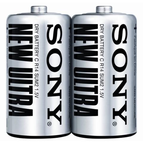 Батарейки Sony R14, C (2/24/120)