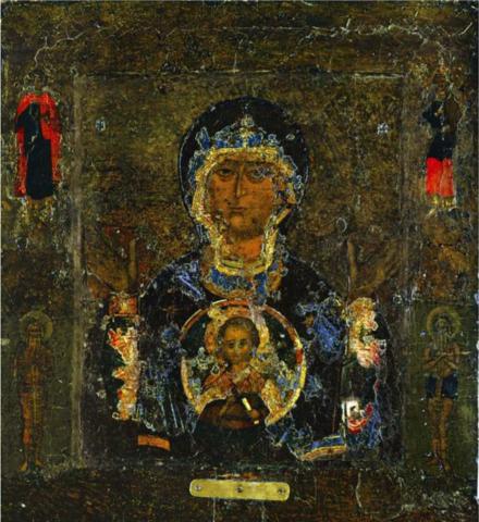 Икона Божией Матери Знамение Новгородская на дереве на левкасе мастерская Иконный Дом