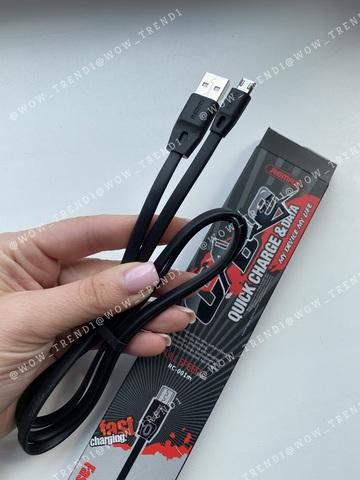 USB кабель Micro USB Remax Full Speed 1M RC-001m /black/