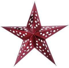 Звезда бумажная голографическая красная (30см)