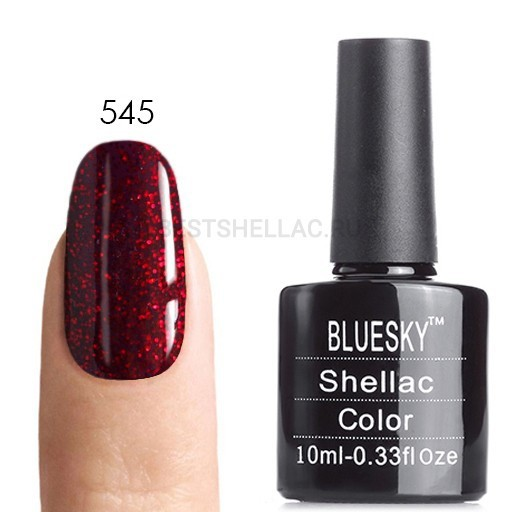 Bluesky Shellac 40501/80501 Гель-лак Bluesky № 40545/80545 (LV575) Ruby Ritz, 10 мл 545.jpg