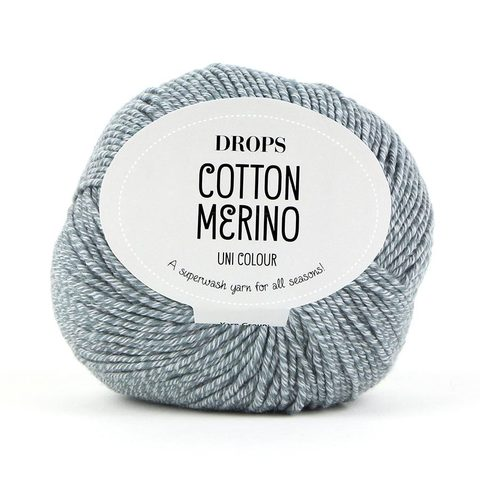 Пряжа Drops Cotton Merino 18 серый