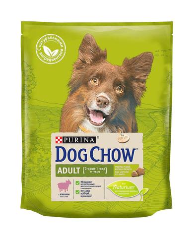 Purina Dog Chow сухой корм для собак взрослых (ягненок) 800 г