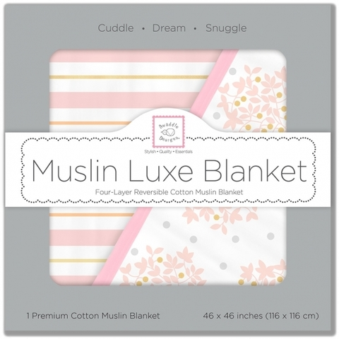 Одеяло муслиновое SwaddleDesigns Luxe Muslin Heavenly Floral Pink