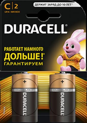 Батарейки Duracell LR14, C (2/24) BL