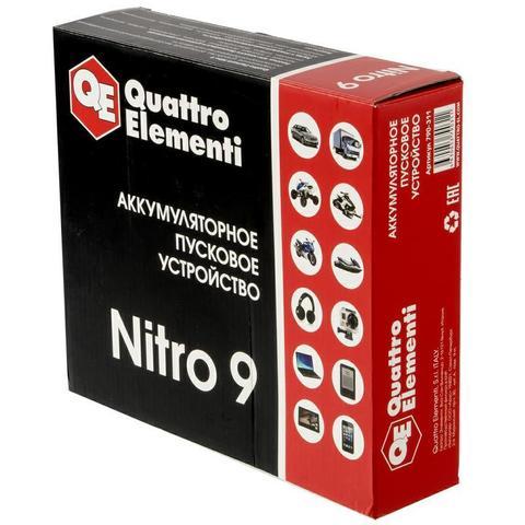 Пусковое устройство QUATTRO ELEMENTI Nitro  9  (12В, 9000 мАч, 450 А,  USB, LCD -  фонарь) (790-311), шт