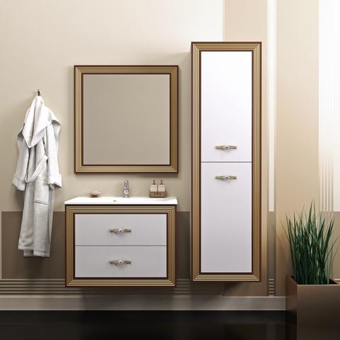 Мебель для ванной Opadiris Карат  80х59,5х45см. цвет золото