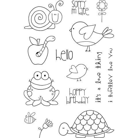Набор силиконовых штампов -Garden Friends